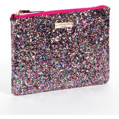 Kate Spade New York Little Gia Glitter Clutch Bag ($78) ❤ liked on Polyvore
