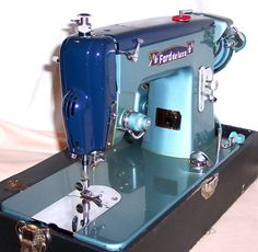 Ford Deluxe Sewing Machine- Although it's painted in the Ford Motor Company's signature vintage colors it wasn't, as far as we can tell, commissioned by the auto maker.