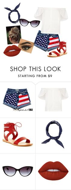 """""""Patriotism"""" by sydclaire ❤ liked on Polyvore featuring Lucille, Matisse, Dolce&Gabbana and Lime Crime"""