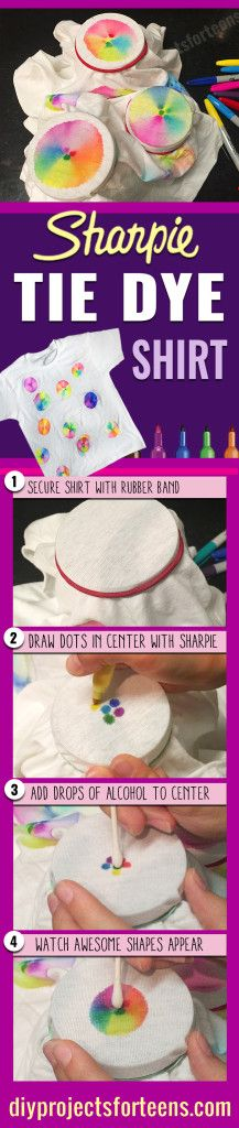 Cool Arts and Crafts Ideas for Teens, Kids and Even Adults | Cheap, Fun and Easy DIY Projects, Awesome Craft Tutorials for Teenagers | School, Home, Room Decor and Awesome Gift Ideas | Sharpie T Shirt | http://diyprojectsforteens.com/arts-and-crafts-ideas-for-teens