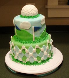Golf Cake Ideas Need to so do this for my dad for his birthday or fathers day!