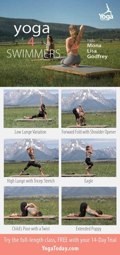 6 key poses for swimmers to stretch sore arms + strengthen the legs: Stretches For Swimmers, Workouts For Swimmers, Swimmers Diet, Swimming Drills, Swimming Tips, Triathlon Swimming, Swimming Classes, Competitive Swimming, Swimming Workouts