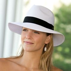 014252d1db7 Florida Jean Company - Wallaroo Hat Company Frankie Fedora Natural with  Brown Ribbon Adjustable 50 UPF