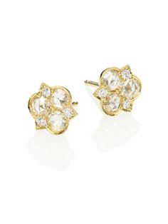 ILA - Constellation Alishia Diamond & 14K Yellow Gold Stud Earrings