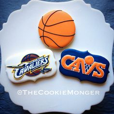Cleveland Cavaliers Cookies ~ The CookieMonger ~ We can turn any idea into awesome cookies! Email thecookiemonger@outlook.com.