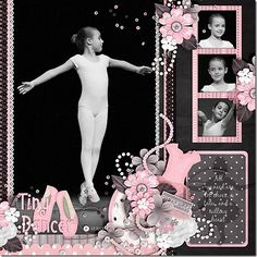This would be good for all the picture of her dance classes. this would be beautiful with the new CTMH for always papers--like this also for a first dance layout Scrapbook Blog, Kids Scrapbook, Scrapbook Page Layouts, Scrapbook Supplies, Scrapbook Cards, Dance Recital, Ballet Dance, Painting For Kids, Digital Scrapbooking