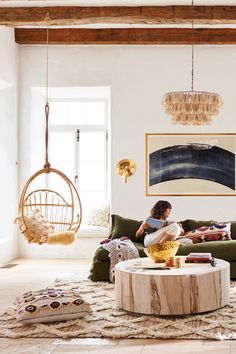 Slide View: 6: Woven Hanging Chair