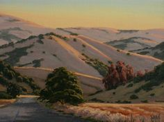 """""""Sunlit Valley"""" by Terry Sauve, Northern California Landscape Painting, Sonoma…"""