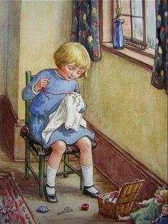 Imagem da internet: criança bordando