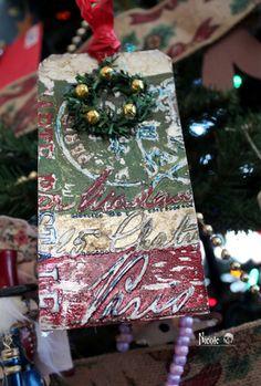 Christmas Scrapbook Tag