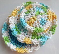 Face Scrubbie Gift Set all cotton handmade by valentinefiberarts, $4.00