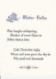 Haiku Poems About Winter - Bing Images