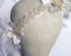 Wedding hair clip by HollyHoopsArt on Etsy