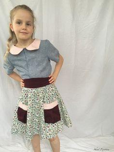Reversible Gemma Blouse tutorial by Skirt Fixation Blouse Tutorial, Girl Skirts, Photo Tutorial, Floral, Fashion, Moda, Fashion Styles, Flowers, Fashion Illustrations