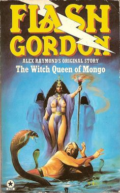 Alex Raymond: Flash Gordon: the witch queen of Mongo. Star Book Cover art by Melvyn Grant. Fantasy Book Covers, Book Cover Art, Fantasy Movies, Fantasy Art, Pulp Fiction, Science Fiction, Heavy Metal Comic, Witch Queen, Flash Gordon