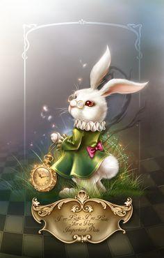"Barnali Bagchi ~ ""Wonderland in the Looking Glass "" White Rabbit Alice In Wonderland, Alice Rabbit, Alice In Wonderland Drawings, Alice And Wonderland Quotes, Alice In Wonderland Tea Party, Rabbit Art, Adventures In Wonderland, Arte Disney, Disney Art"