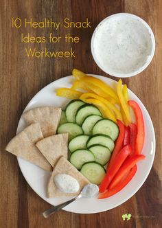 10 Healthy Snack Ideas for the Workweek! Easy ideas for healthy munchies during your busy week from EricasRecipes.com.