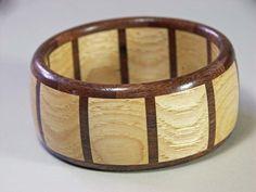 segmented wood turned bracelet