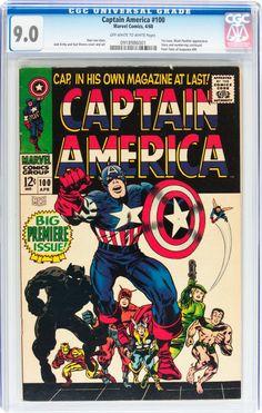 Silver Age (1956-1969): Superhero, Captain America #100 (Marvel, 1968)