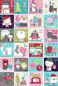 pop-i-cok: merry christmas! Printable? Cute for advent.