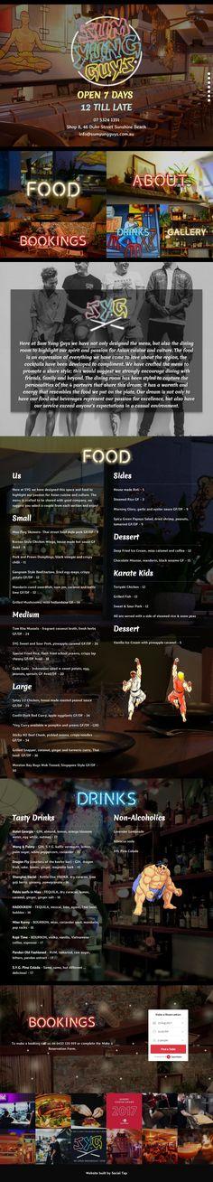 Sum Yung Guys Website Design - Social Tap: Website Design & Marketing for Hospitality, Tourism, Food & Wine. Website Design, Web Design, Restaurant Web, Sunshine Coast, Marketing, Wine Recipes, Hospitality, Tourism, Restaurants