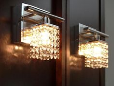 Crystal Bathroom Vanity Sconces chic sophisticate crystal torch wall sconce | torches, wall