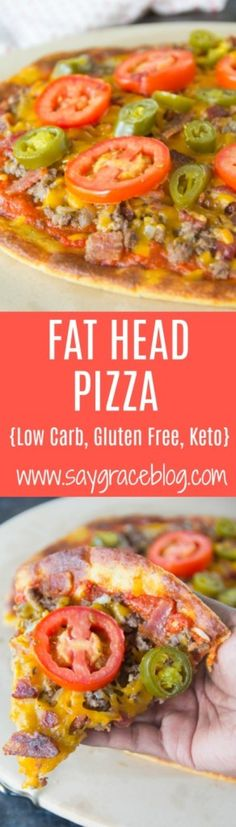 This Fat Head Pizza is simple to make and loaded with flavor! Top it with favorite pizza toppings and watch it disappear! Almond Recipes, Raw Food Recipes, Low Carb Recipes, Healthy Recipes, Diabetic Recipes, Pizza Recipes, Cake Recipes, Recipe Using Cauliflower, Fat Head Pizza Crust