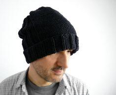 urban slouch hat - hand-knit merino