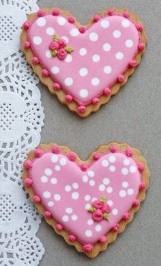 Frosted Heart Tea Cookies