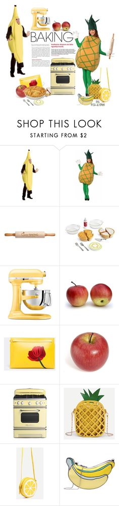 """""""Yellow Pallette #1 : Baking"""" by kinandung ❤ liked on Polyvore featuring interior, interiors, interior design, home, home decor, interior decorating, Personalized Planet, KitchenAid, Loewe and WithChic"""