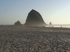 Haystack Rock in Cannon Beach Oregon.