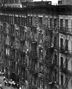 Facade, (From east 100th street), 1960s, Bruce Davidson. American, born in 1933.