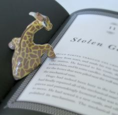 The Dapper Toad: Giraffe Book Page Holder Giraffe Decor, Emoji Love, Craft Markets, Crafts To Make And Sell, Pottery Designs, Book Making, Book Pages, Paint Brushes, Polymer Clay