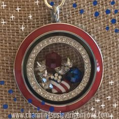 God Bless America - Origami Owl Contact me to place your order: www.ginnypetrilla.origamiowl.com