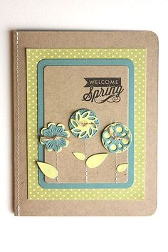 Welcome Spring Card by Heather Nichols for Papertrey Ink (April 2014)