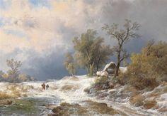 Artwork by Remigius van Haanen, Winter Landscape, Made of oil on canvas
