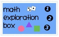 Teacher Mama: Math Exploration Box Part 2-- How To Use It