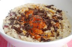 Pumpkin Jam, Cranberry and Dark Chocolate Porridge using Pelagonia's Pumpkin Jam