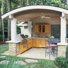 Outdoor Building , Ideas Of Outdoor Kitchen Roof : Modern Permanent Outdoor…