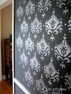 Cutting Edge Stencils Ikat Saida Allover Stencil 46 95 See More Geometric Stencil Patterns