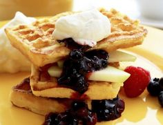 I'm a big fan of post-workout protein waffles. Most Pinned Recipes, Crispy Waffle, Protein Waffles, Fresh Eats, Recipe From Scratch, Easter Brunch, Recipe Images, Fresh Vegetables, Recipe Of The Day