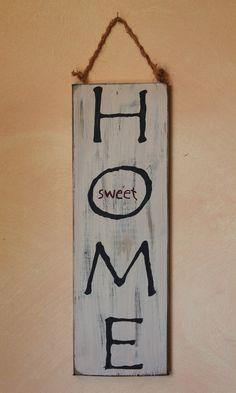 Deko-Objekte - Holzschild mit Text im Vintage Style - ein Designerstück von Linda-Thom bei DaWanda