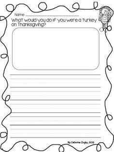 Thanksgiving Writing Template - Amy Journell - TeachersPayTeachers ...