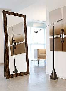 YumanMod Enter Stand Alone Traditional Full Length Mirror Round Wall Mirror, Wall Mounted Mirror, Modern Contemporary Bathrooms, Freestanding Mirrors, Kitchen Bath Collection, Dressing Mirror, All Modern, Frames On Wall, Home Decor