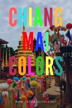 Chiang Mai is such a vibrant city and so colorful.