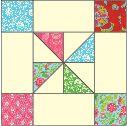 Framed Pinwheel Block: FREE Quilt Block Pattern Download