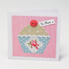 Cupcake card - this would be a lovely addition to a set of cupcake pincushions