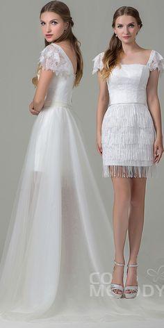$224. Fashion two way wear #wedding #dress. #cocomelody