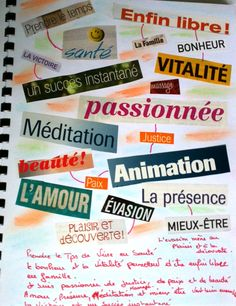 ATELIERS DE JOURNAL CREATIF: Collage de mots                                                                                                                                                                                 Plus