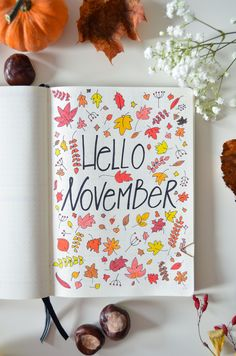 October's flown by and it's time to set up my November bujo with leaves ruling the roost and rocking my version of the autumn inspired bullet journal! Bullet Journal Inspo, Bullet Journals, Bujo, Hello November, Journal Prompts, Autumn Inspiration, Productivity, Planners, Journaling